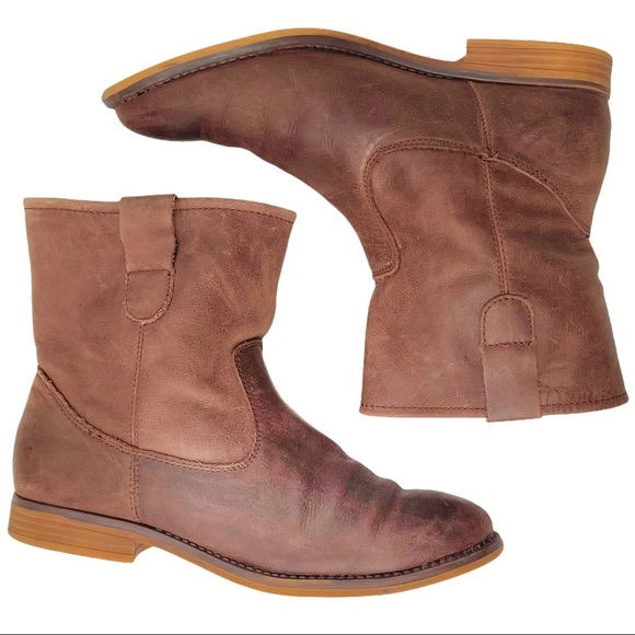 CROWNVINTAGE BROWN DISTRESSED LEATHER WESTERN BOOT